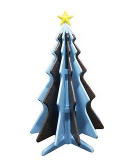NatTy - abete in polistirolo, bicolore azzurro e nero